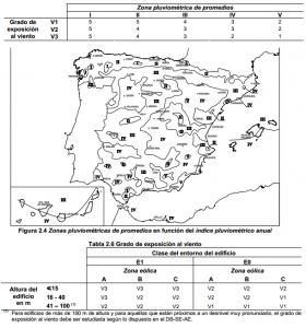 Zonas pluviométricas y eólicas de España