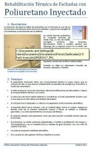 Rehabilitación térmica de fachadas con poliuretano inyectado