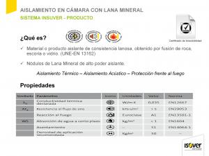 Presentación de ISOVER, Lana Mineral Insuflada