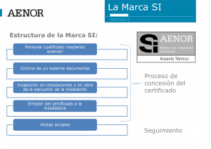 Presentación de AENOR, la Marca SI