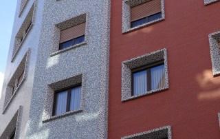 Detalle de terminación de la fachada