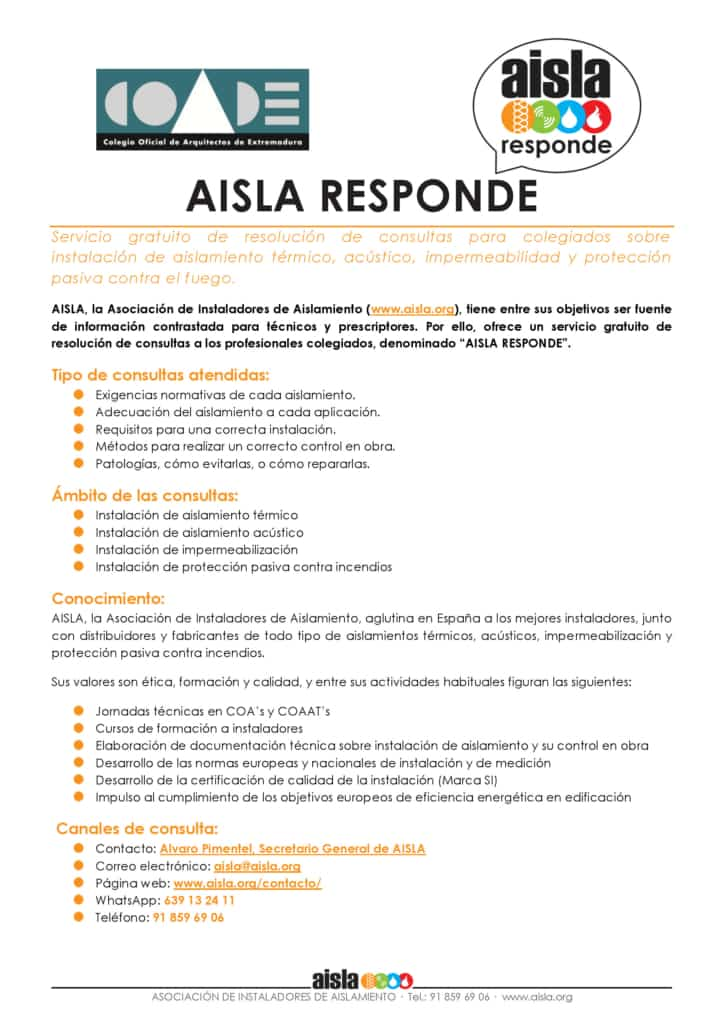 Servicio AISLA RESPONDE para COADE