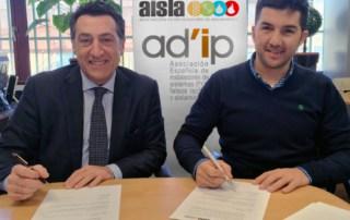 Izquierda, Michel Zugadi, presidente de AISLA, y derecha David Marín, Presidente de AD'IP