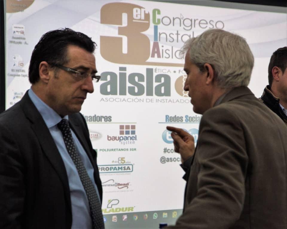 Michel Zugadi, de AISLA, e Ignacio López, de INCUAL