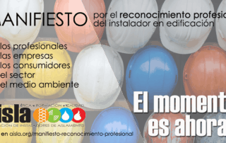 Manifiesto por el reconocimiento profesional del instalador en edificación