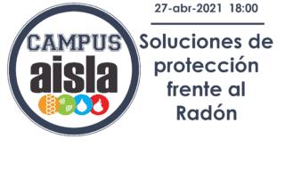 Logo CAMPUS AISLA. Radón